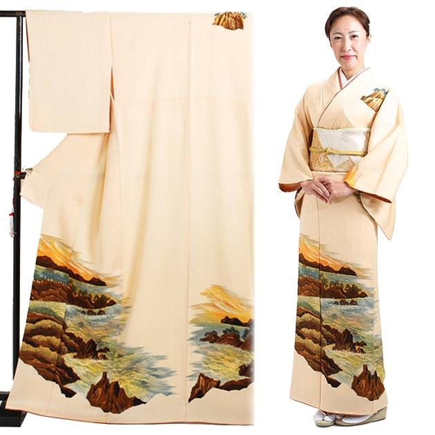 訪問着 レンタル 袷 10月〜5月[〜158cm] お茶会 卒業式 入学式 着物 houmongi15