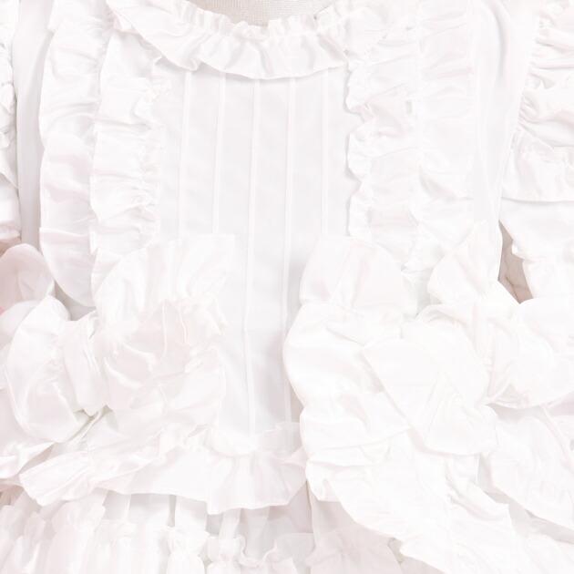 子供 ドレス レンタル 7〜9才 白色 半袖 5-6r