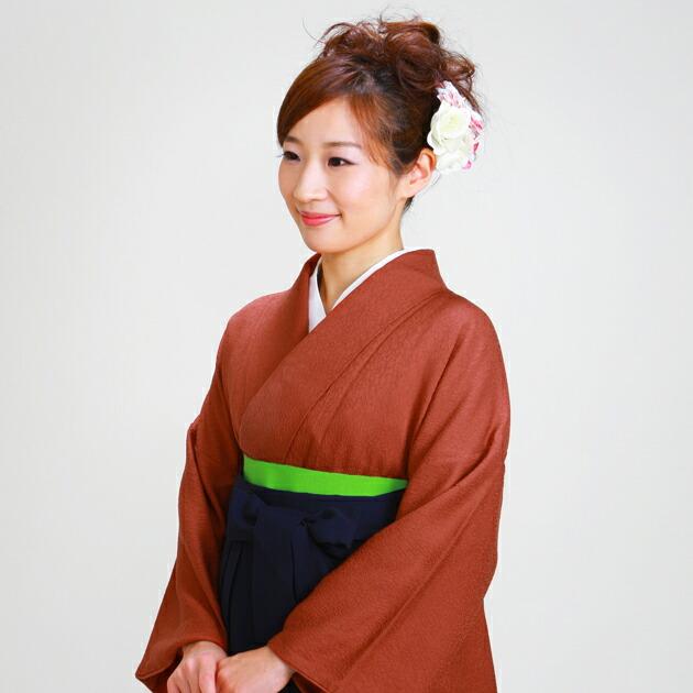 卒業式 袴 レンタル レンガ色 身長〜165cm,7号〜13号 NT-muji76