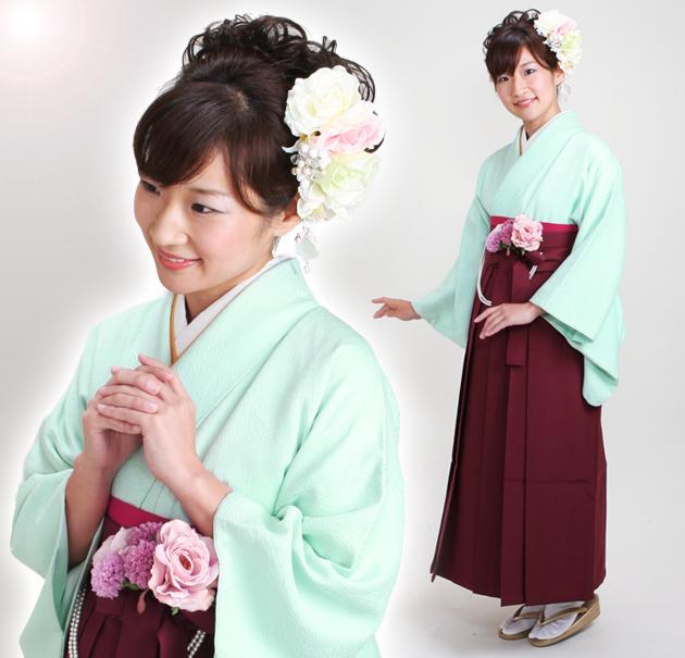 卒業式 袴 レンタル ブルー色 無地 身長〜160cm,7号〜13号 NT-muji68