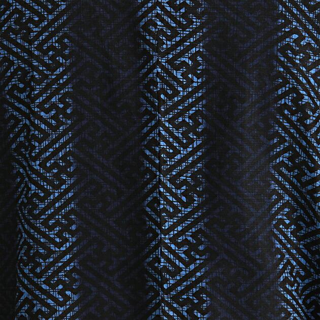 【浴衣 メンズ レンタル】ゆかたレンタル 3点セット☆浴衣・帯・下駄☆nt-my121 黒紺紗綾形