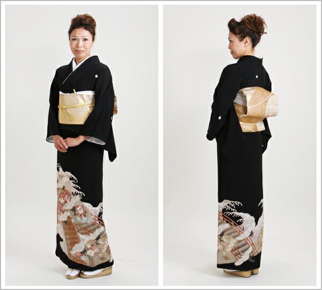 黒留袖 レンタル [小柄な方:〜150cm] 留袖 レンタル 着物 留め袖 NT-S335