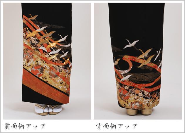 黒留袖 レンタル [標準サイズ:150cm〜160cm] 留袖 レンタル 着物 留め袖 NT-877