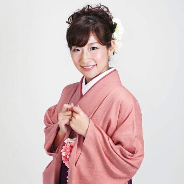 卒業式 袴 レンタル ローズ色 無地 身長〜170cm,7号〜13号 NT-muji70