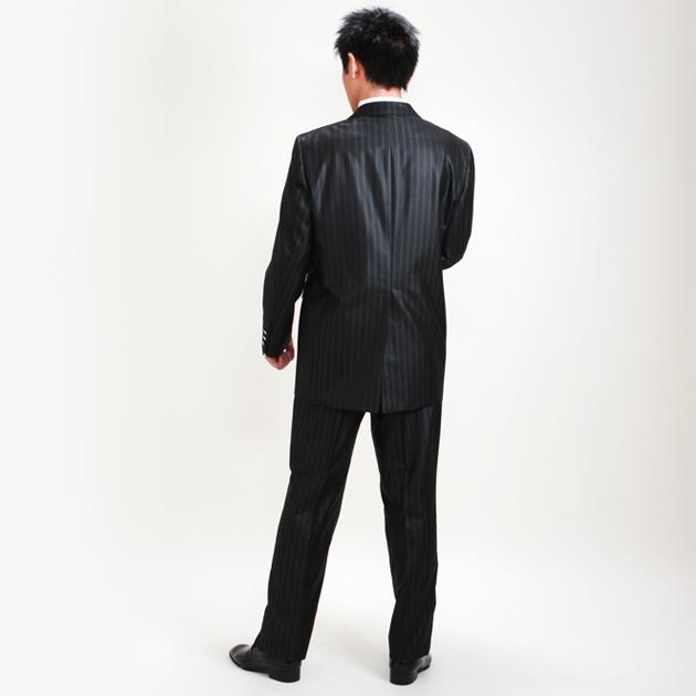 タキシード レンタル 【黒ストライプロングタキシード レンタル】新郎 結婚式 nt029