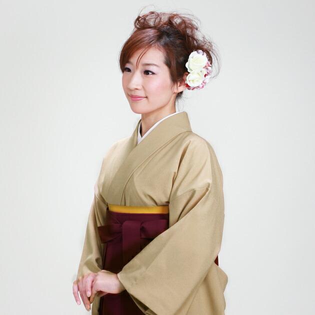 卒業式 袴 レンタル ベージュ色 身長〜160cm,7号〜13号 NT-muji92
