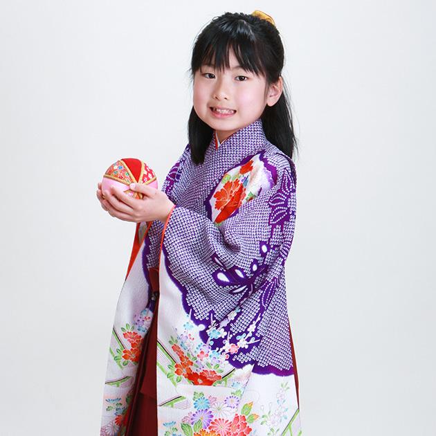 袴 レンタル 女の子/5〜7歳 七五三着物 7歳 七五三着物7歳 青色/しぼり 卒園式 結婚式 NT-袴エ