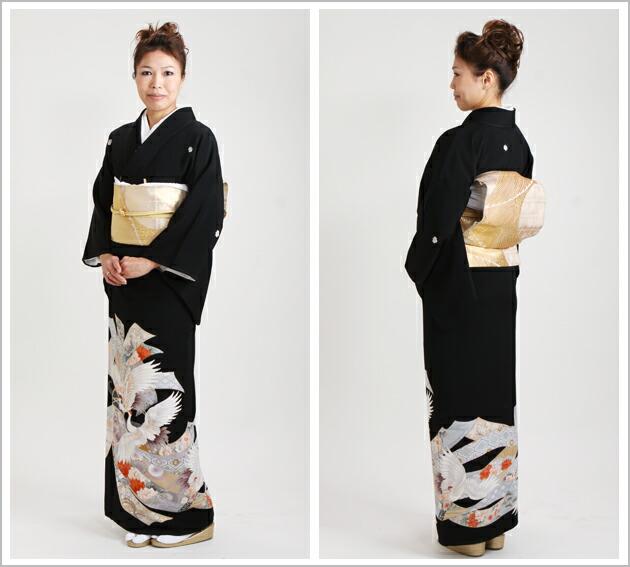 黒留袖 レンタル [標準サイズ:〜158cm] 留袖 レンタル 着物 留め袖 NT-334