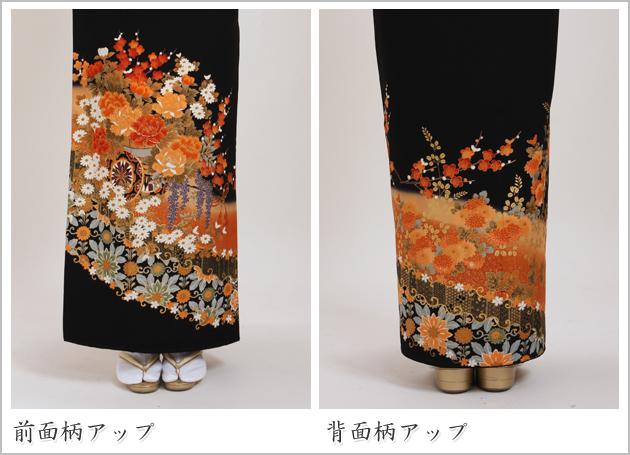 黒留袖 レンタル [広幅:13〜17号]留袖 レンタル 着物 留め袖 NT-L748