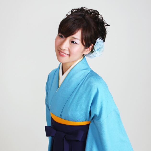 卒業式 袴 レンタル 濃ブルー色 無地 身長〜158cm,7号〜13号 NT-muji74