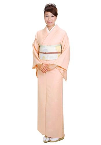 色無地 【単衣】 レンタル 6月・9月 〔高級正絹〕 ピンク色 NT-16