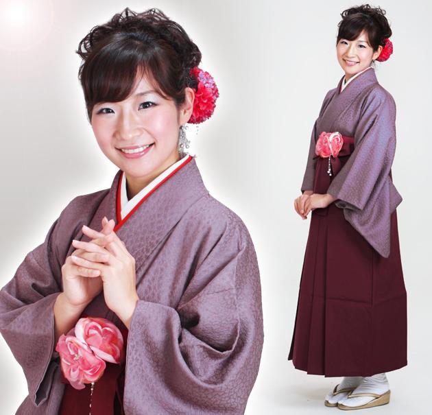 卒業式 袴 レンタル 紫色 無地 身長〜160cm,7号〜13号 NT-muji78