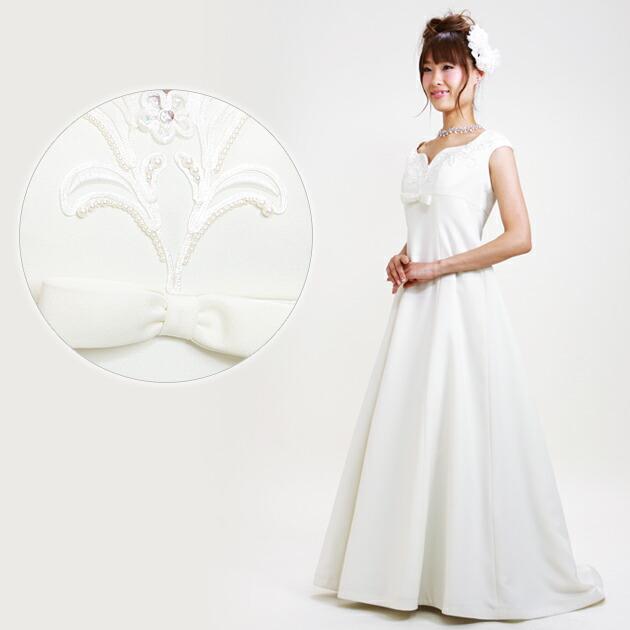 二次会ドレス レンタル 11号 Aライン オフホワイト 結婚式の2次会に 8311
