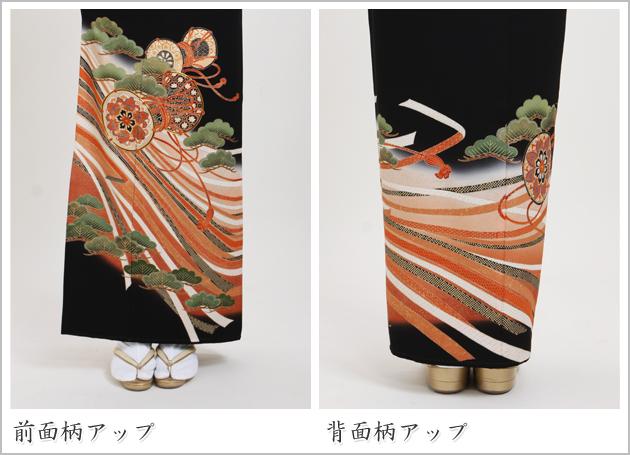 黒留袖 レンタル [広幅:11〜15号]留袖 レンタル 着物 留め袖 NT-L900