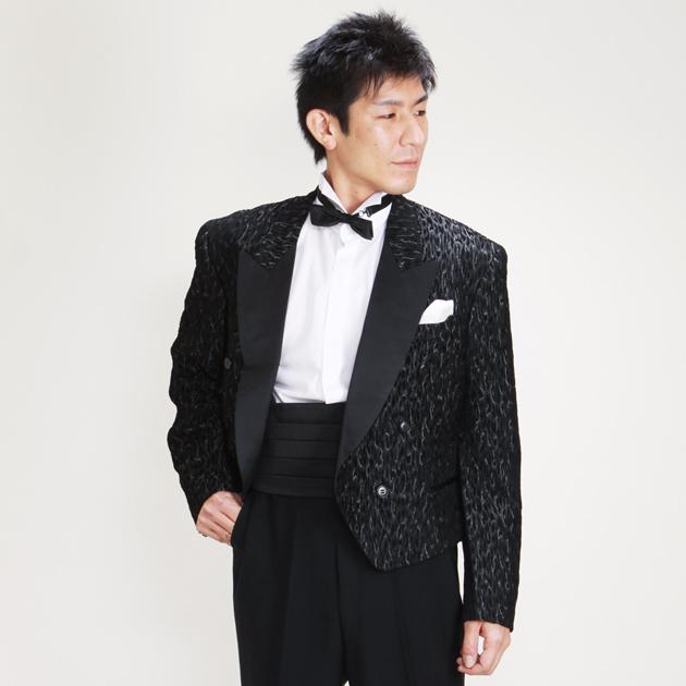 【スペンサー タキシード レンタル】L・XLサイズ/170cm〜182cm/黒 パーティ 演奏会 up-h251a