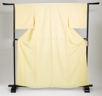 色無地 【単衣】 レンタル 6月・9月 〔高級正絹〕 黄色 NT-17