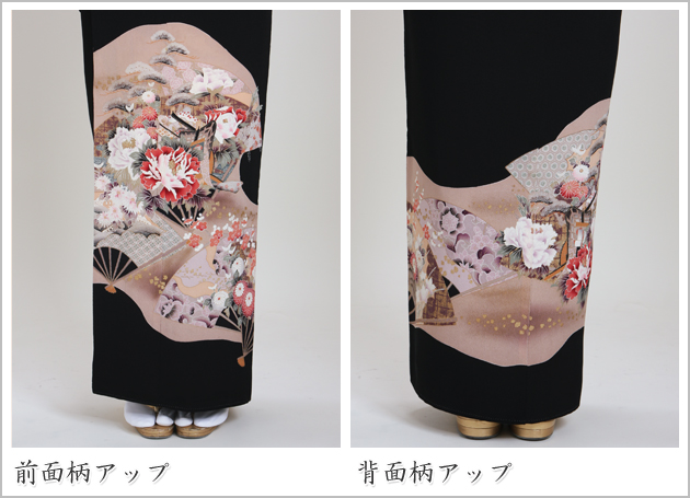 黒留袖 レンタル [標準サイズ:〜155cm] 留袖 レンタル 着物 留め袖 NT-333