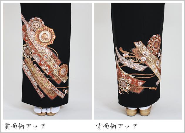 黒留袖 レンタル [標準サイズ:150cm〜165cm] 留袖 レンタル 着物 留め袖 NT-914