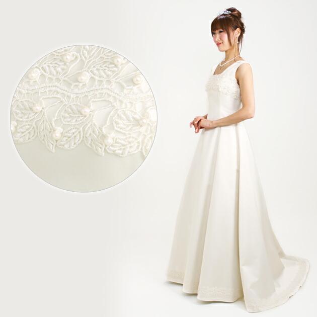 二次会ドレス レンタル 9号 Aライン オフホワイト 結婚式の2次会に 8322