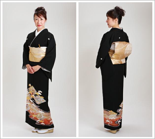黒留袖 レンタル [標準サイズ:150cm〜165cm] 留袖 レンタル 着物 留め袖 NT-922