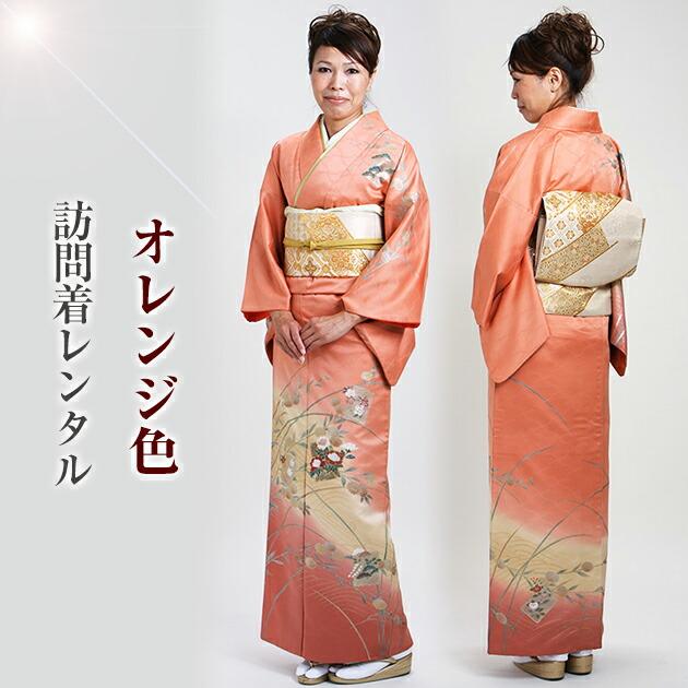 訪問着 レンタル 袷 10月〜5月[〜160cm] お茶会 卒業式 入学式 着物 houmongi107