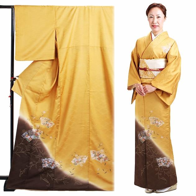訪問着 レンタル 袷 10月〜5月[〜165cm] お茶会 卒業式 入学式 着物 houmongi115