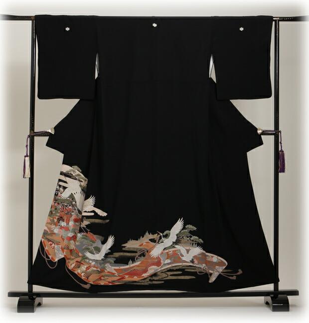 黒留袖 レンタル [小柄な方:〜150cm] 留袖 レンタル 着物 留め袖 NT-550