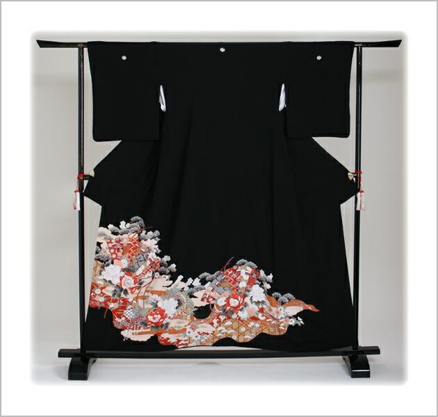黒留袖 レンタル [小柄な方:〜150cm] 留袖 レンタル 着物 留め袖 NT-S397