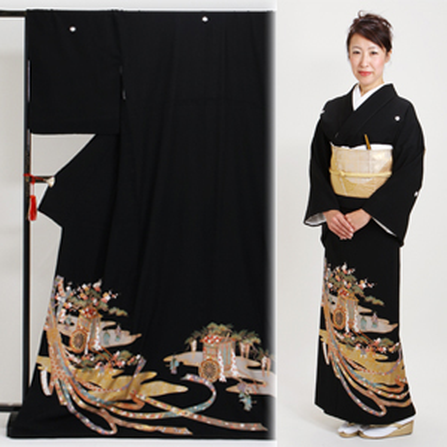 黒留袖 レンタル [トールサイズ:160cm〜175cm] 留袖 レンタル 着物 留め袖 NT-905