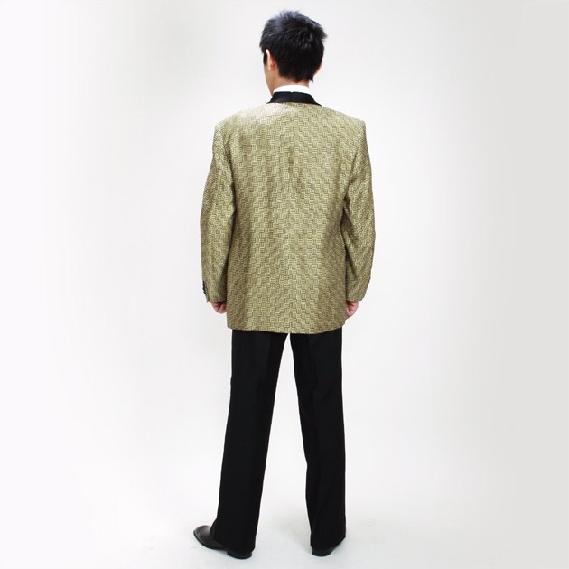 【ショールカラー タキシード レンタル】L・XLサイズ/170cm〜182cm/イエロー パーティ 演奏会 up5