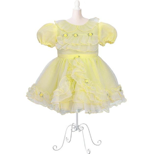 子供 ドレス レンタル 1〜2才 イエロー 半袖 er-3038d