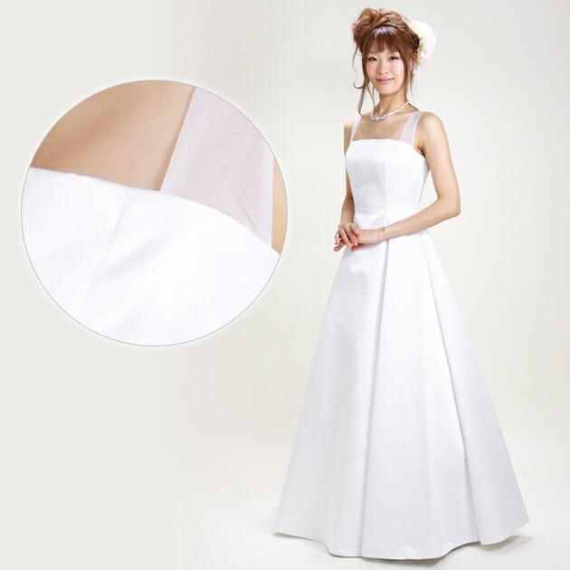 二次会ドレス レンタル 9号 Aライン ホワイト 結婚式の2次会に 8231