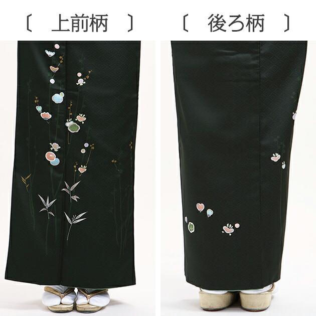 訪問着 レンタル 袷 10月〜5月[〜165cm] お茶会 卒業式 入学式 着物 houmongi117