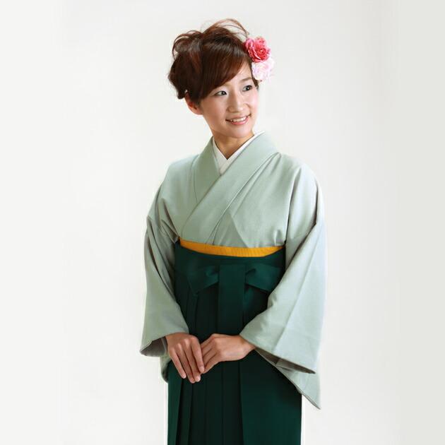 卒業式 袴 レンタル ブルーグレー色 広幅 身長〜160cm,13号〜15号 NT-muji107