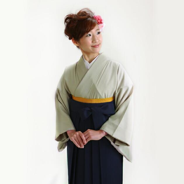 卒業式 袴 レンタル グレー色 広幅 身長〜160cm,13号〜15号 NT-muji108