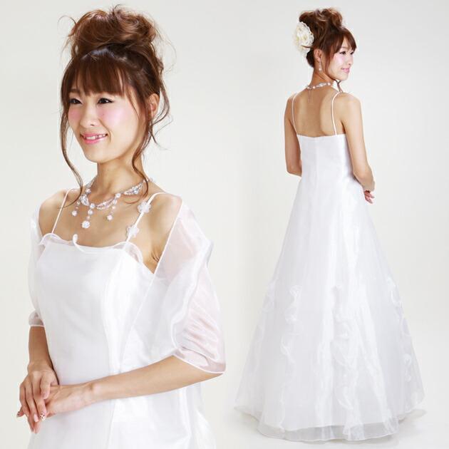 二次会ドレス レンタル 13号 Aライン ホワイト 結婚式の2次会に 8120