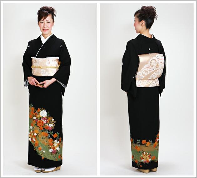 黒留袖 レンタル [標準サイズ:150cm〜160cm] 留袖 レンタル 着物 留め袖 NT-741