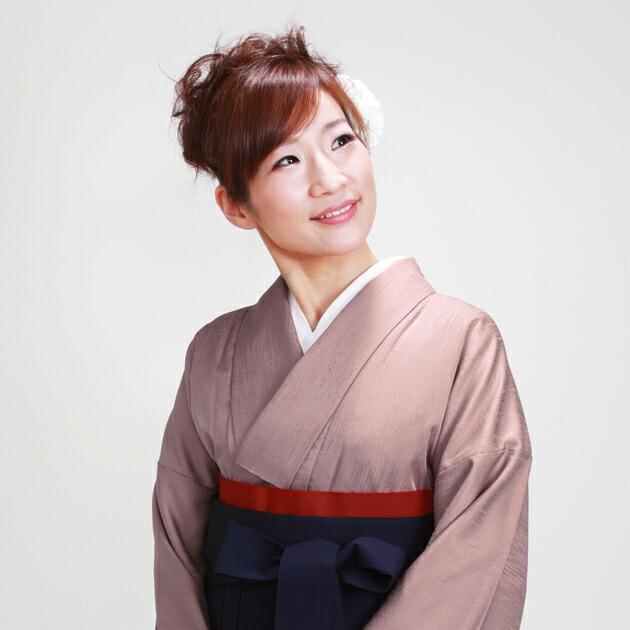 卒業式 袴 レンタル あずき色 身長〜158cm,7号〜13号 NT-muji17