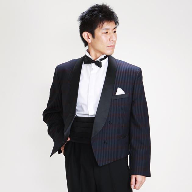 【スペンサー タキシード レンタル】L・XLサイズ/170cm〜182cm/紺 パーティ 演奏会 732