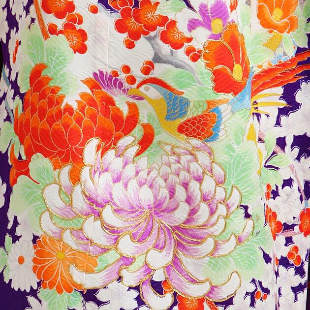 袴 レンタル 女の子/5〜7歳 七五三着物 7歳 七五三着物7歳 紫色/花 卒園式 結婚式 NT-袴ヤ