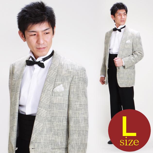 【ショールカラー タキシード レンタル】L・XLサイズ/170cm〜182cm/白黒 パーティ 演奏会 up1061