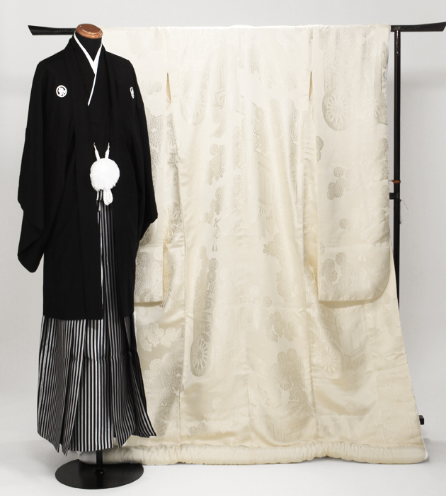 白無垢 レンタル 光琳菊に御所車 NT-158