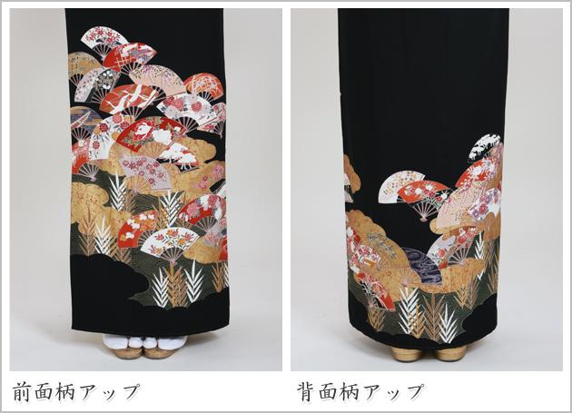 黒留袖 レンタル [標準サイズ:150cm〜163cm] 留袖 レンタル 着物 留め袖 NT-592