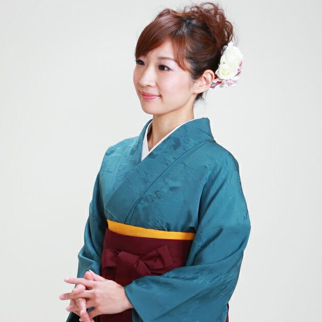 卒業式 袴 レンタル ブルー色 身長〜165cm,7号〜13号 NT-muji23