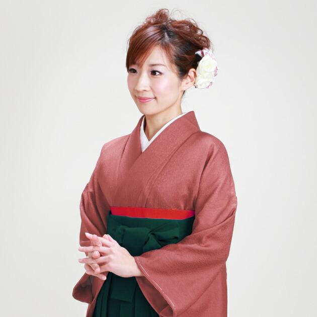 卒業式 袴 レンタル レンガ色 身長〜165cm,7号〜13号 NT-muji81
