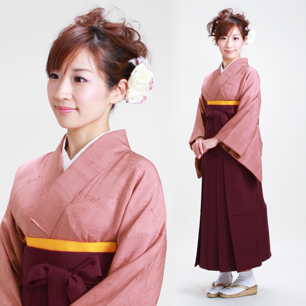 卒業式 袴 レンタル あずき色 身長〜158cm,7号〜13号 NT-muji24