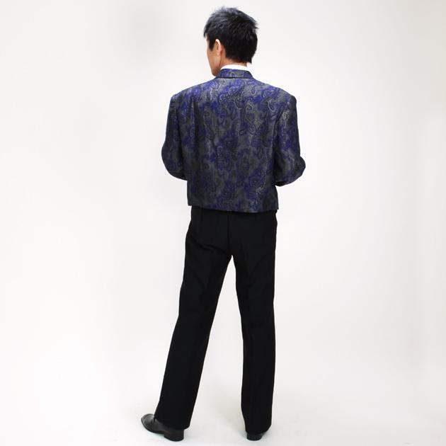 【スペンサー タキシード レンタル】L・XLサイズ/170cm〜182cm/紺・ゴールド パーティ 演奏会 2-4219