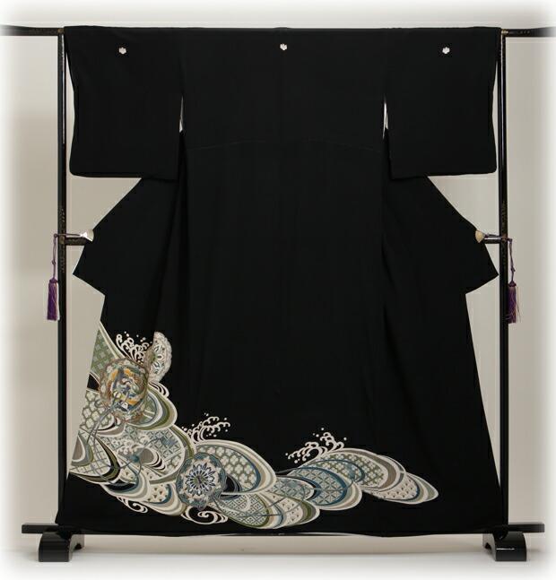 黒留袖 レンタル [標準サイズ:〜155cm] 留袖 レンタル 着物 留め袖 NT-163