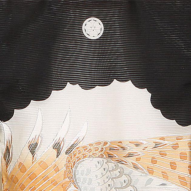 夏用 絽〔お宮参り レンタル 夏物〕黒色/松 山 鷹 ro-113 初着 産着 お宮参りレンタル 祝着 よだれかけ