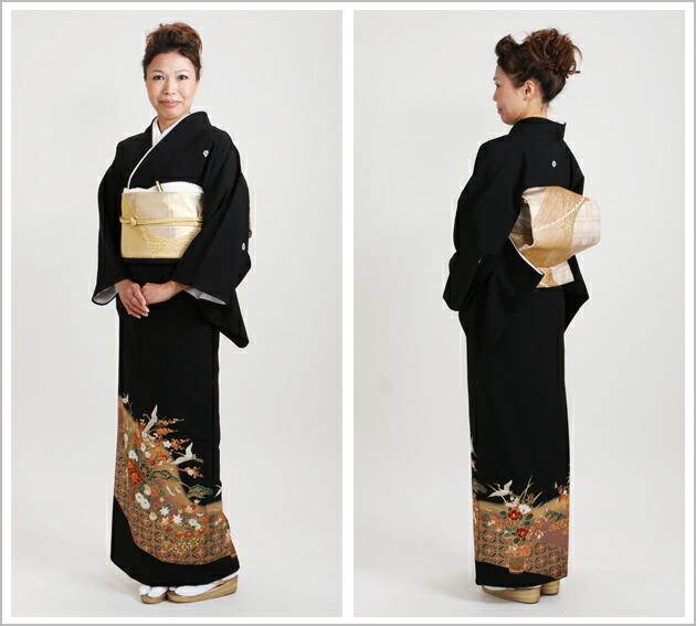 黒留袖 レンタル [標準サイズ:150cm〜165cm] 留袖 レンタル 着物 留め袖 NT-746